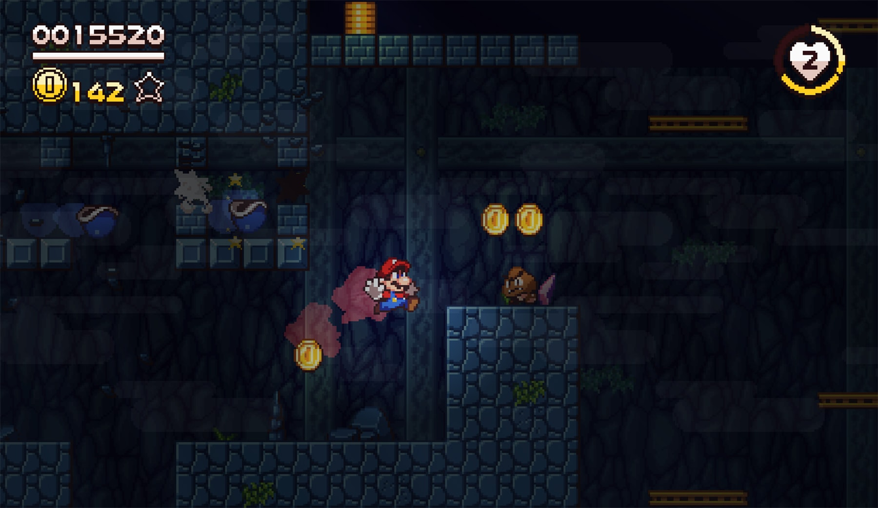 Super Mario Flashback' is a stunning pixel art fan game