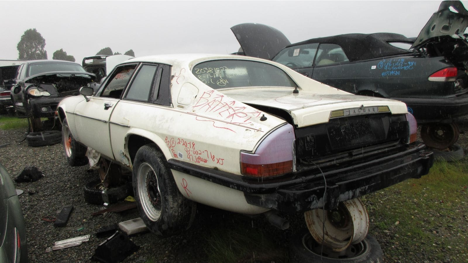 1977 Jaguar XJ-S in California wrecking yard