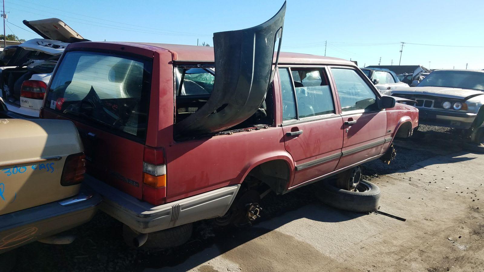 1991 Volvo 740 Turbo Wagon In California Wrecking Yard