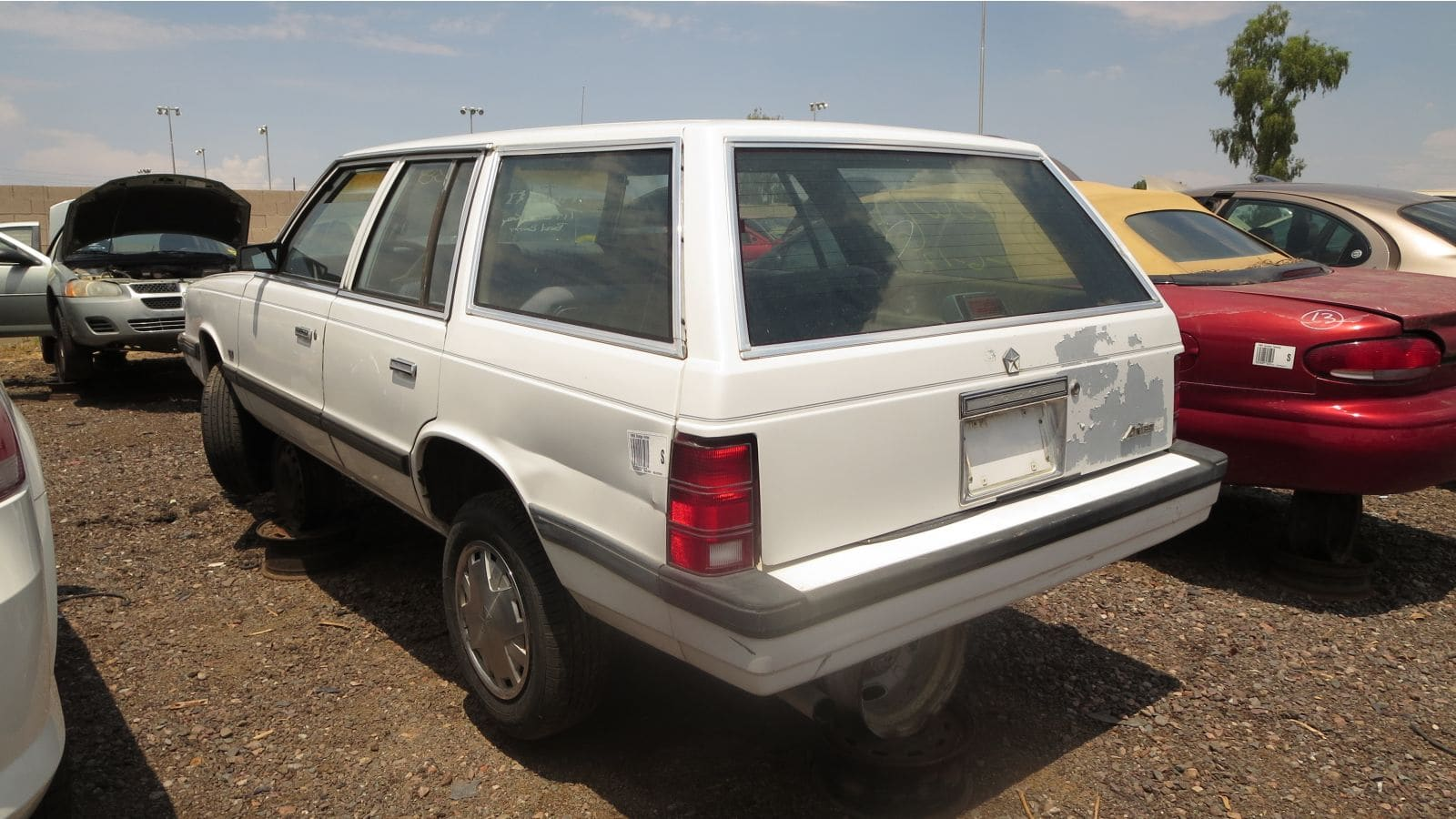 Junked 1988 Dodge Aries wagon