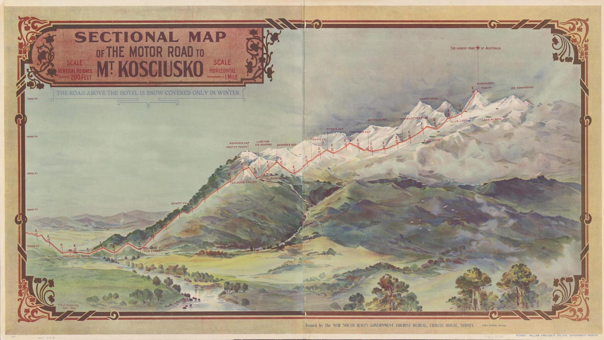 Mount Kosciuszko Road Map