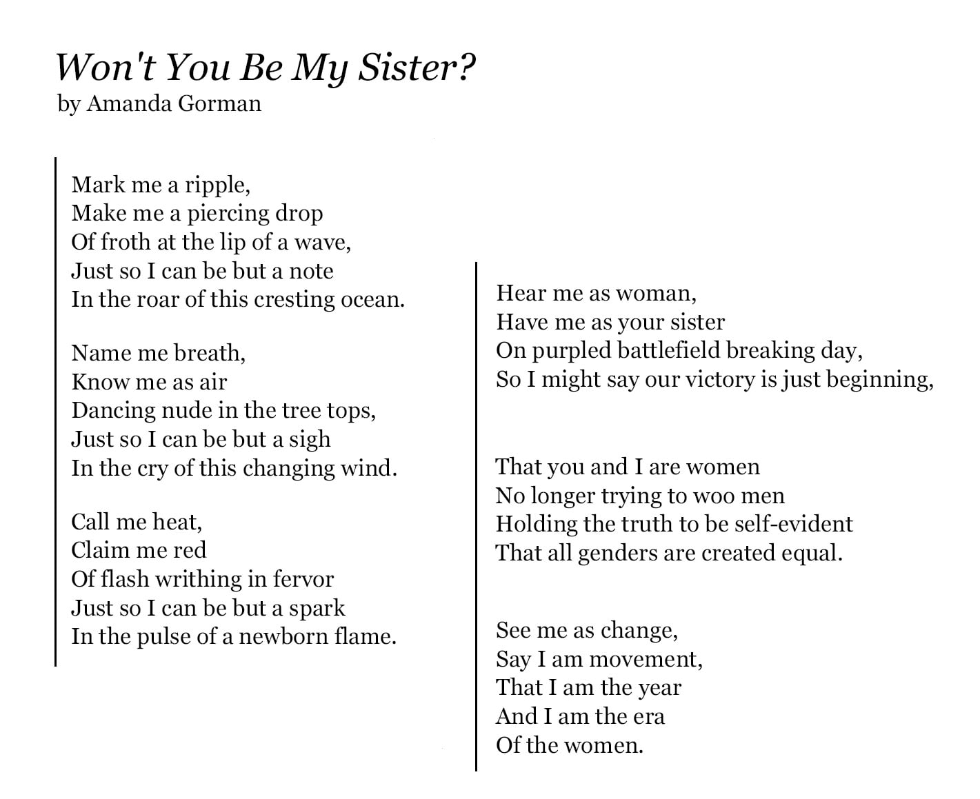 Amanda Gorman Poems 2