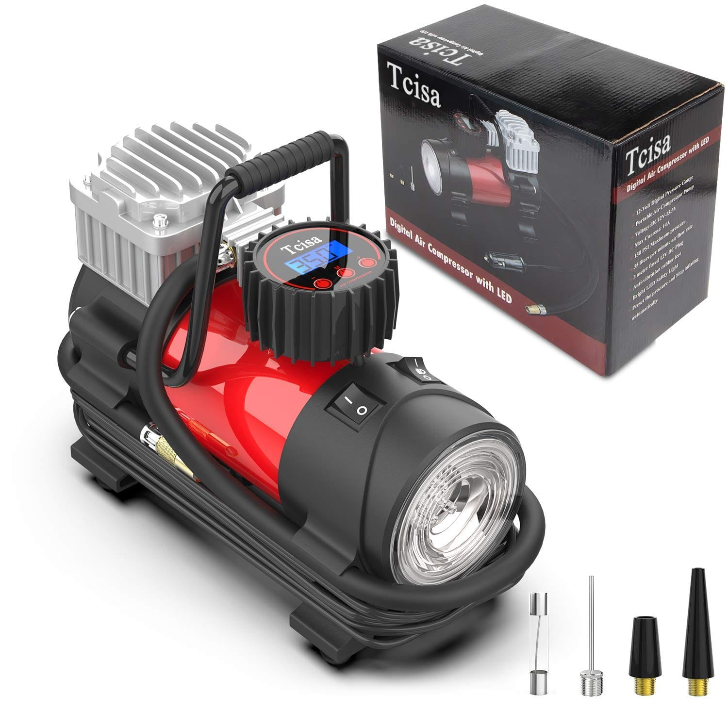 Tcisa 12V DC Portable Air Compressor