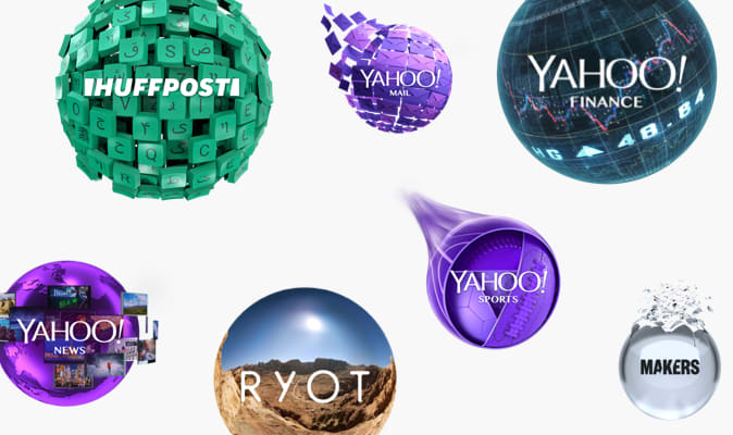 Various Verizon Media brand orbs
