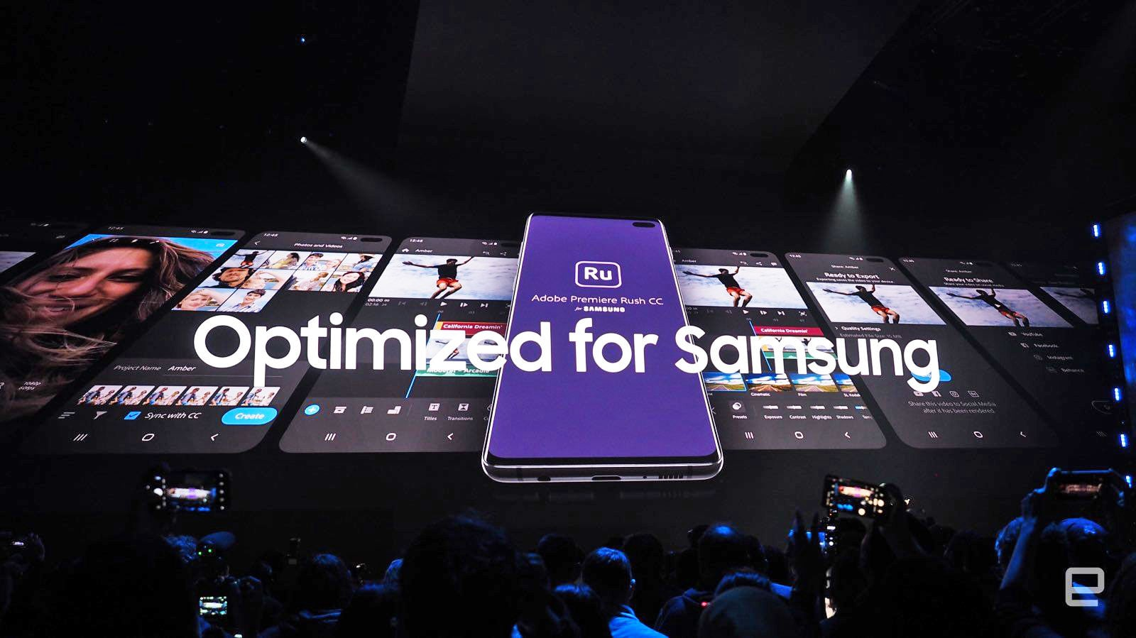 The Galaxy S10 will get its own version of Adobe Premiere Rush