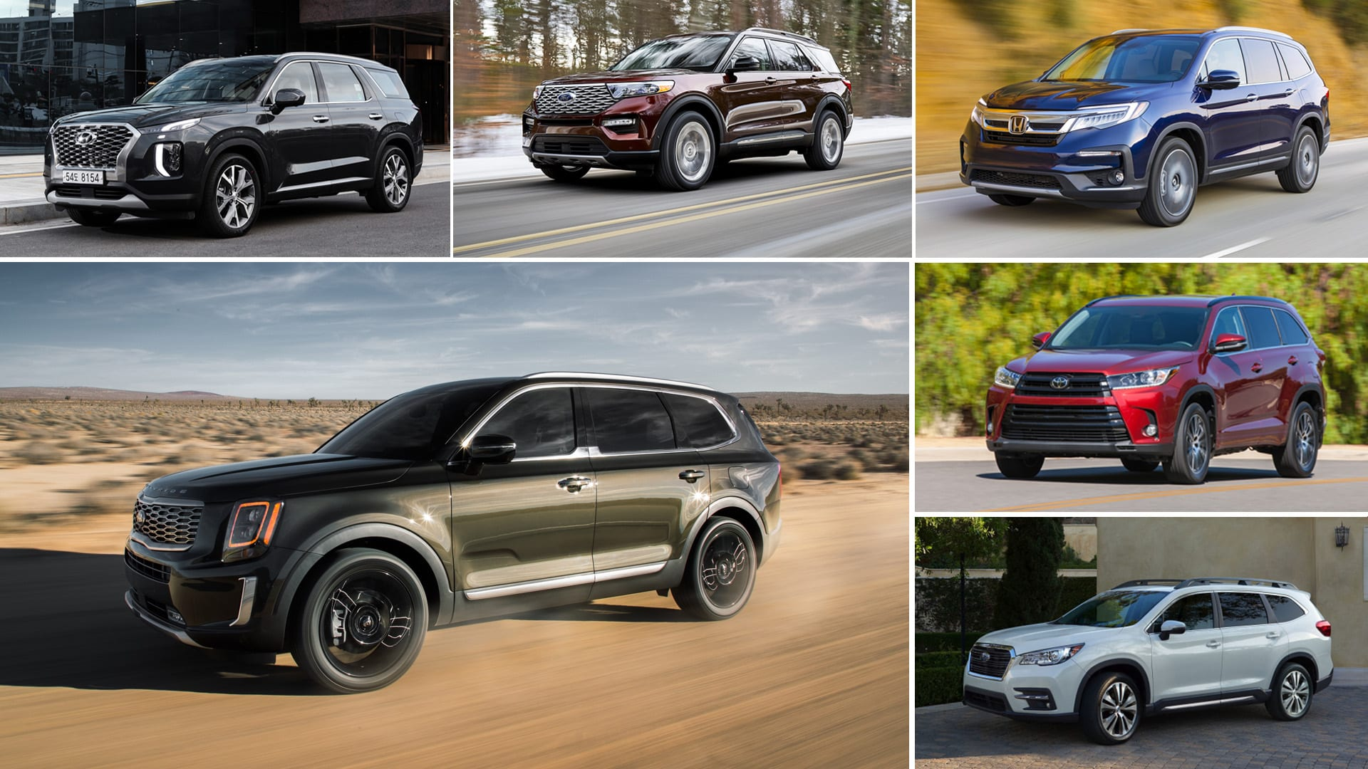 2020 Kia Telluride vs Other 3-Row Crossovers