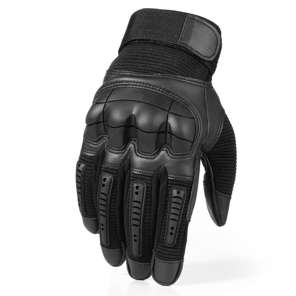 Leather hard knuckle