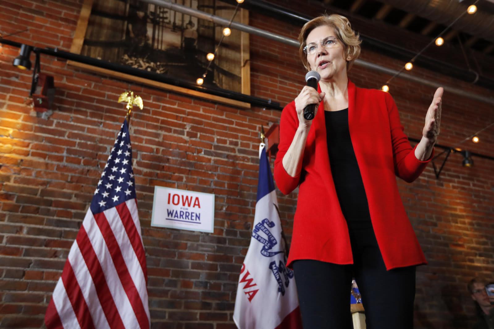 Election 2020 Warren, ASSOCIATED PRESS