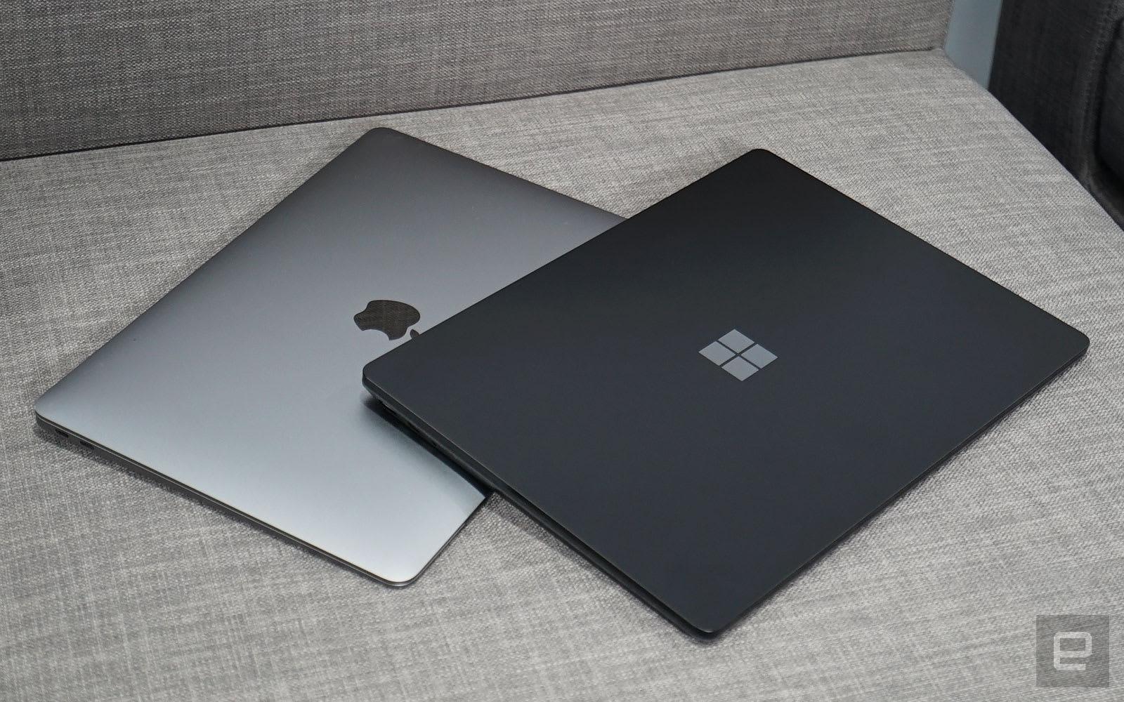 Surface Laptop 2 MacBook Air
