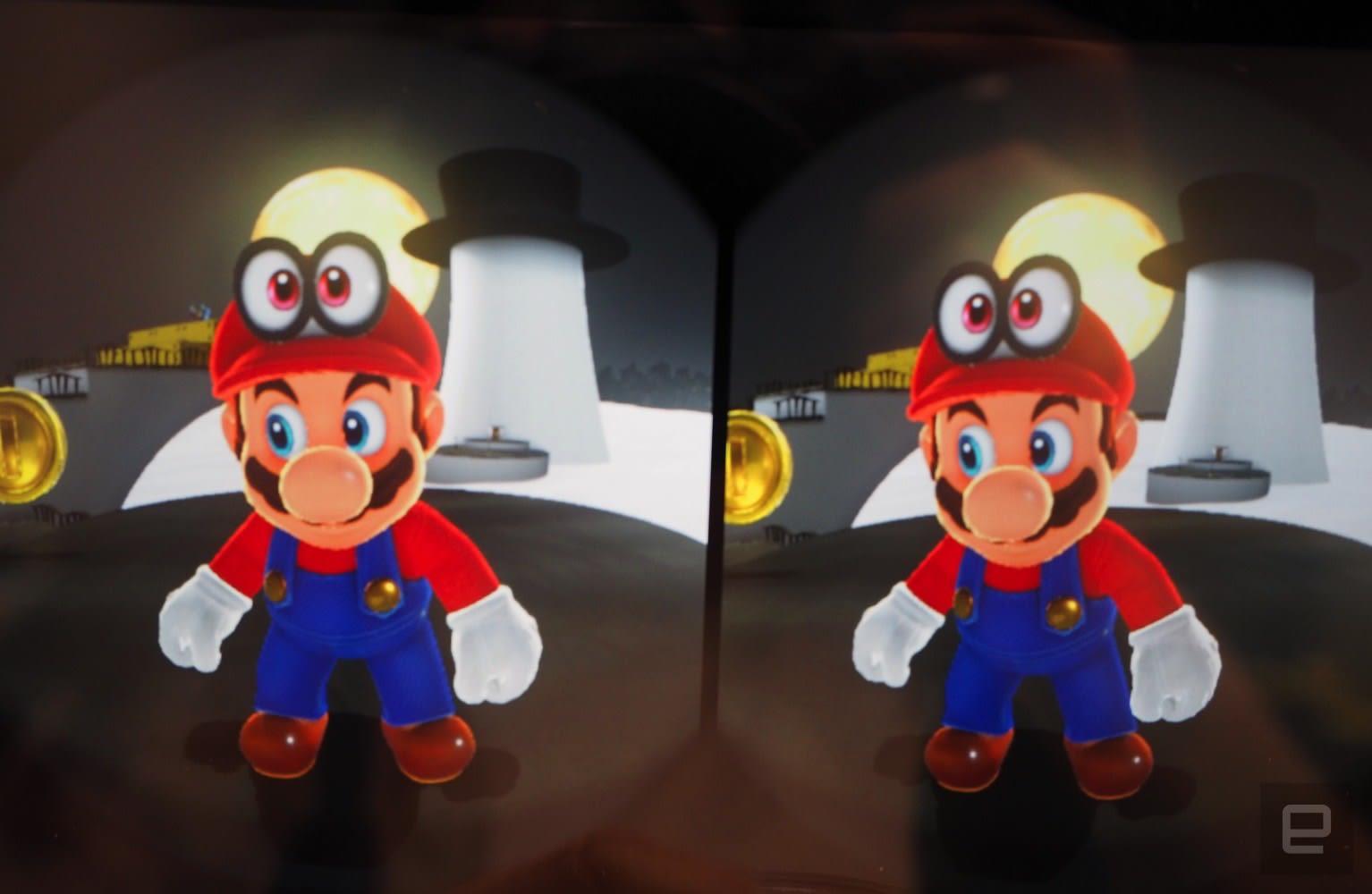 Super Mario Odyssey in VR