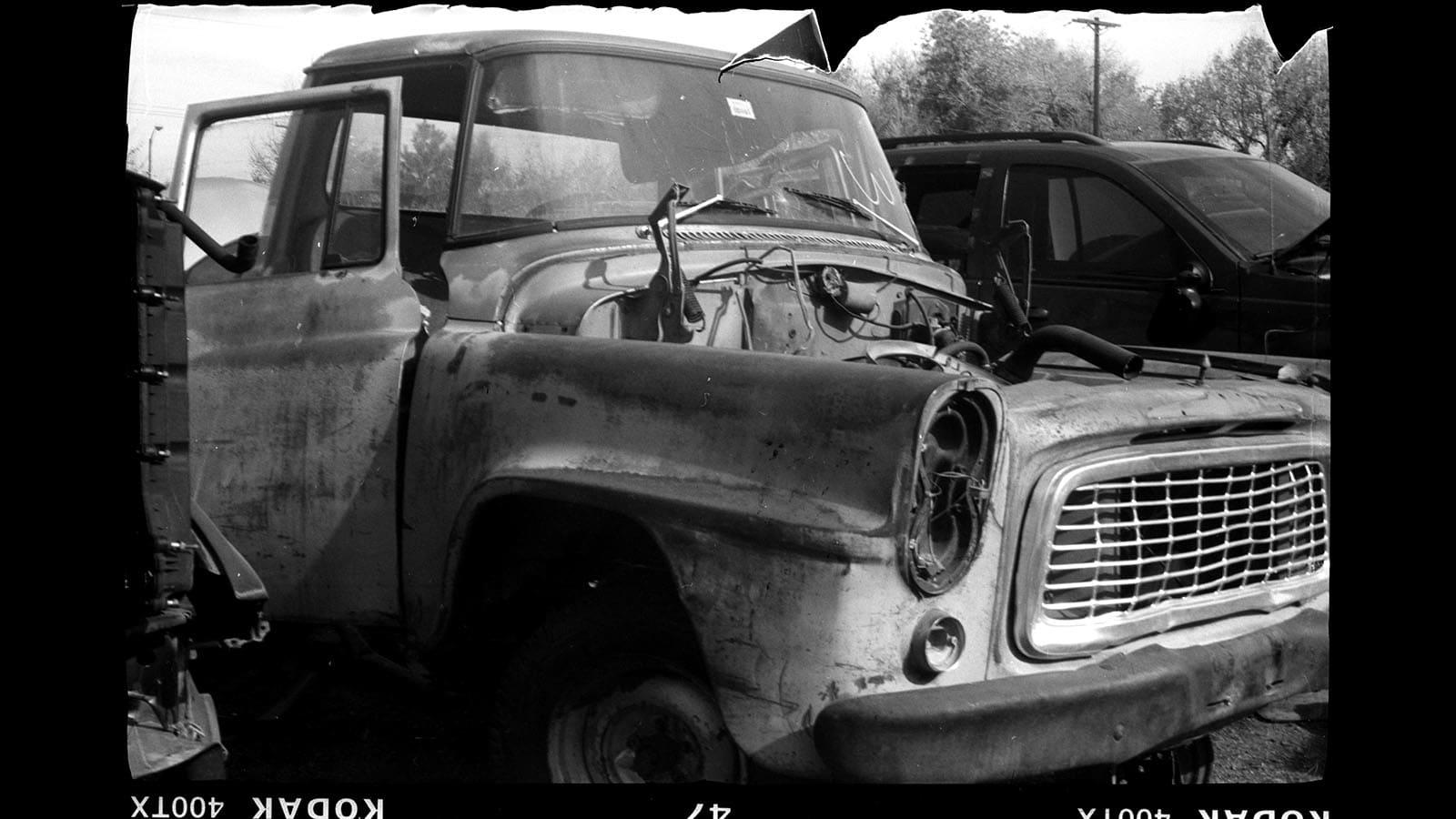 Junked 1959 International Harvester B-110 pickup