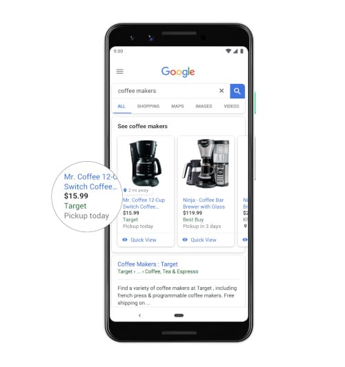 Google's universal shopping cart will work across Search and Images