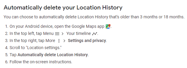 Google Location Histrory