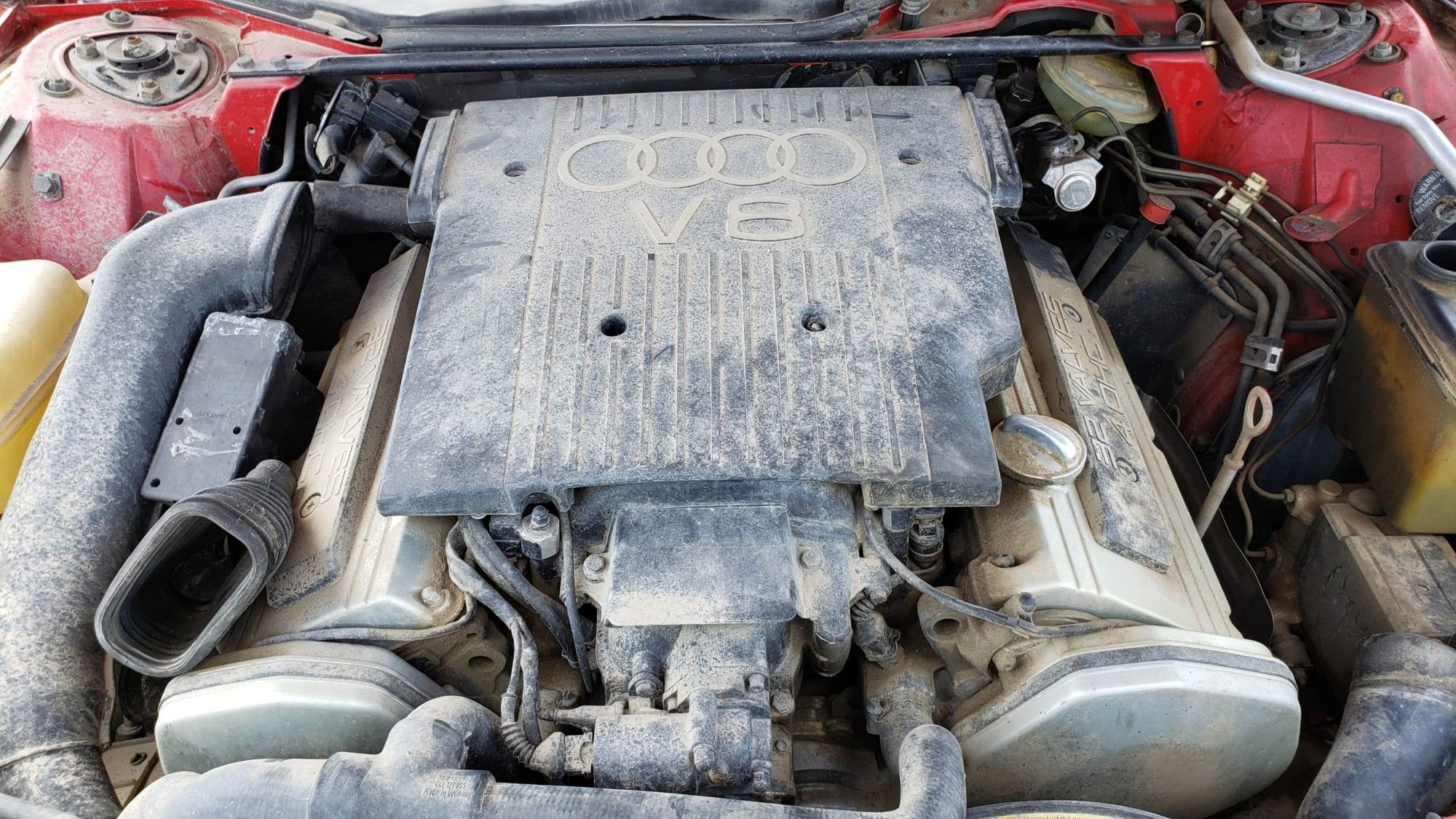 Junked 1989 Audi V8 Quattro