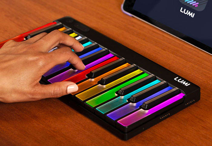 Roli's light-up Lumi keyboard teaches you how to play