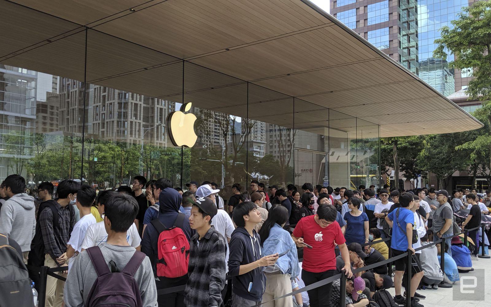 台灣第二間蘋果直營店在信義區盛大開幕