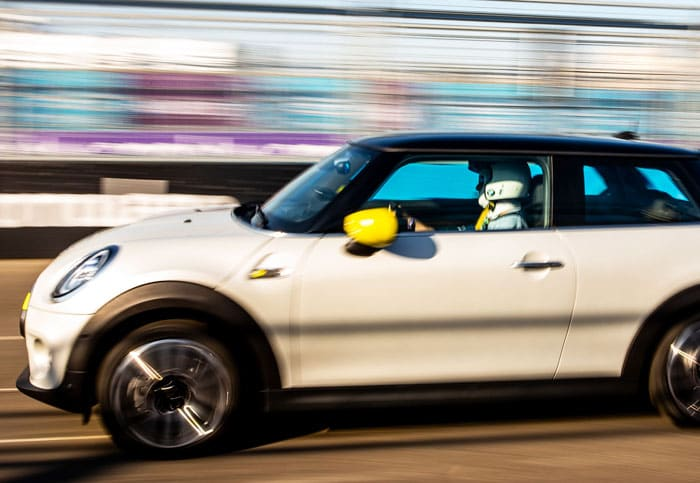 The Mini SE combines green power with go-kart handling