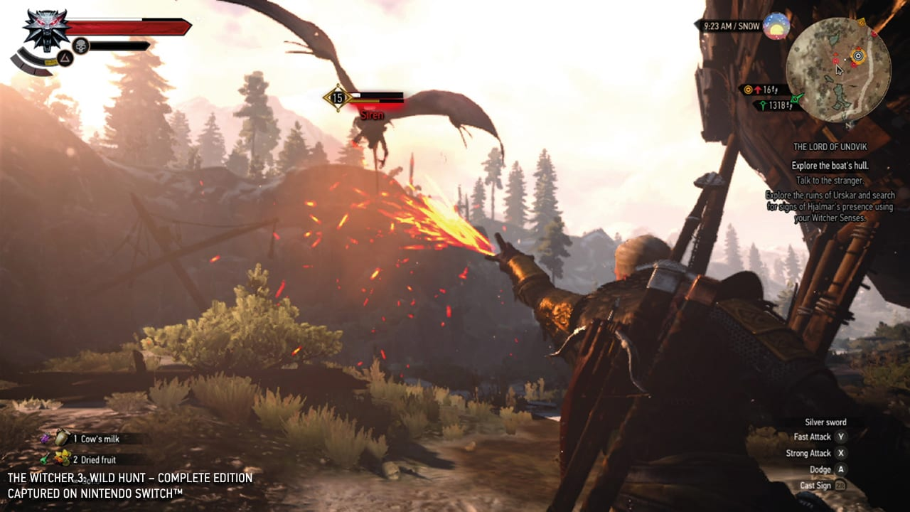 Playing 'The Witcher 3' on the Switch shouldn't work, but it