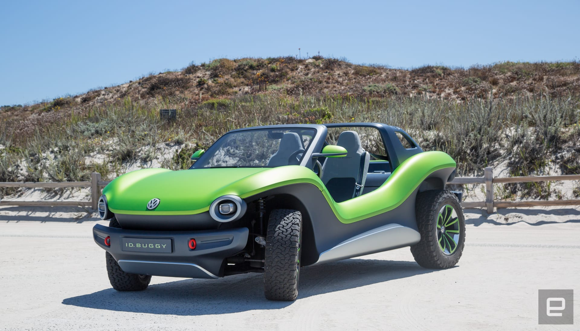 Behind the wheel of VW's electric dune buggy prototype