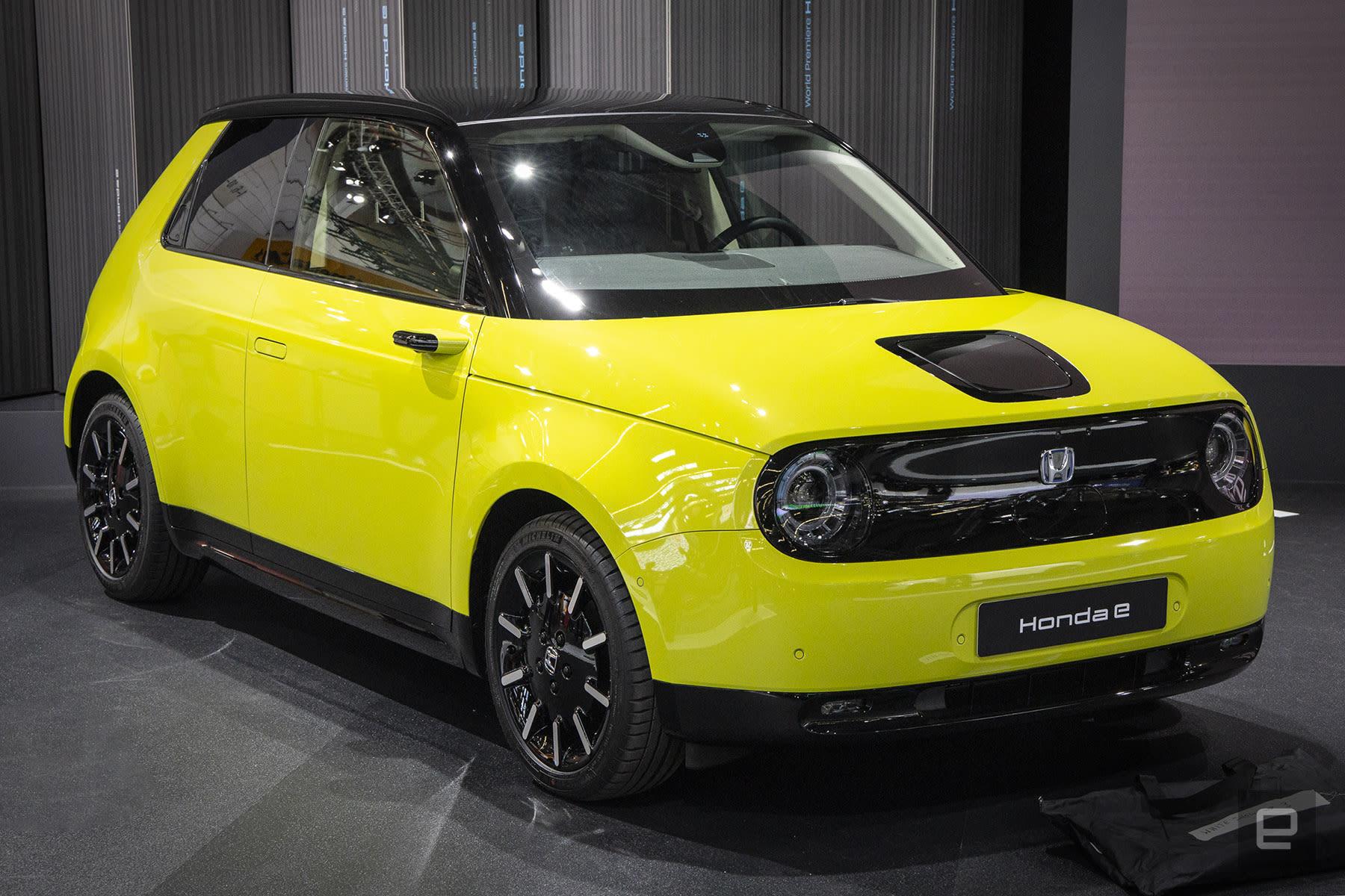 Honda E electric production vehicle