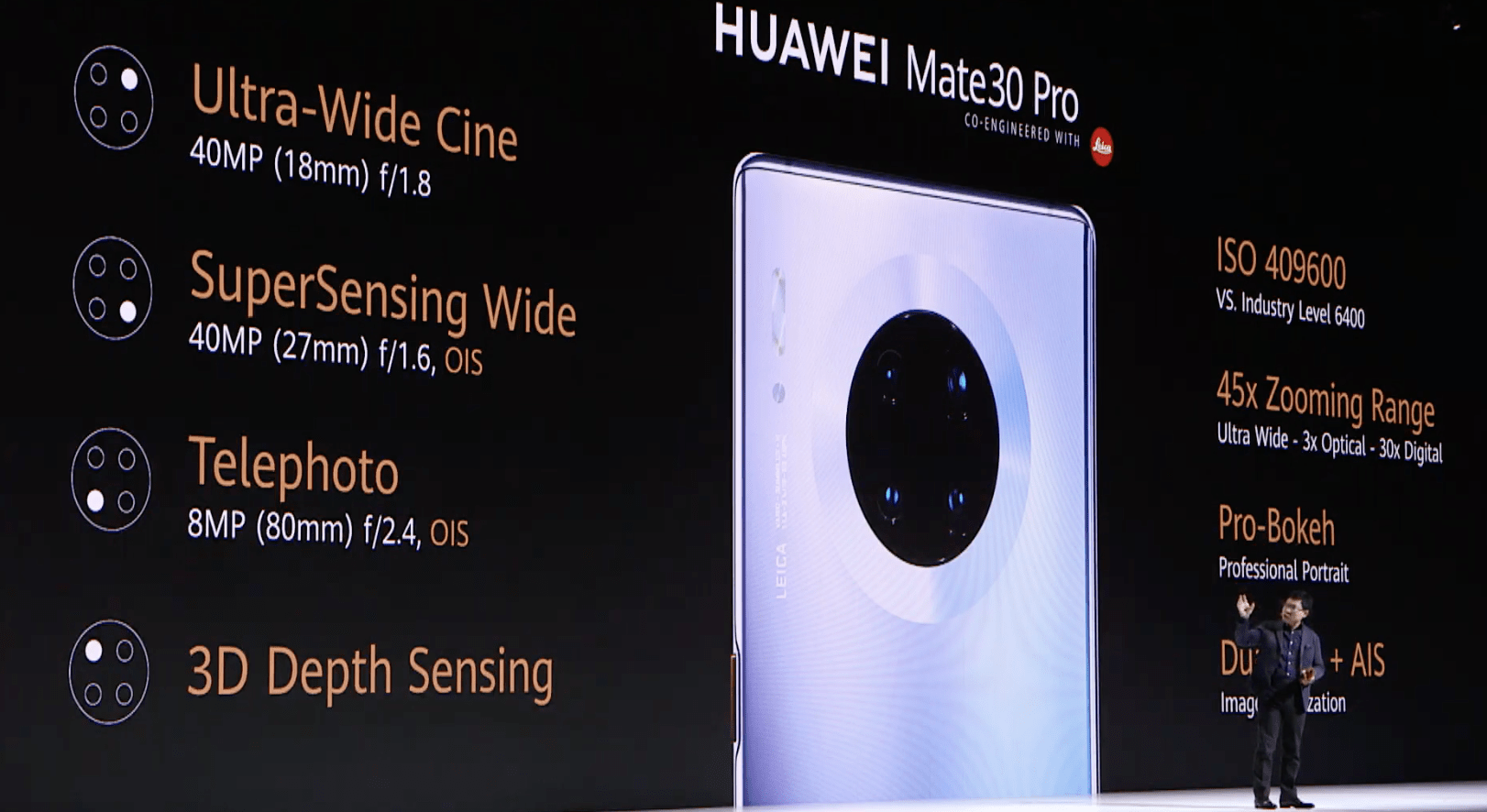 Huawei's Mate 30 Pro has a 'quad-camera' and a vegan leather option