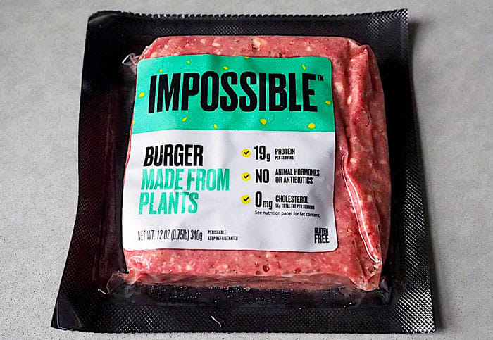 What's it like cooking your own Impossible Burger?