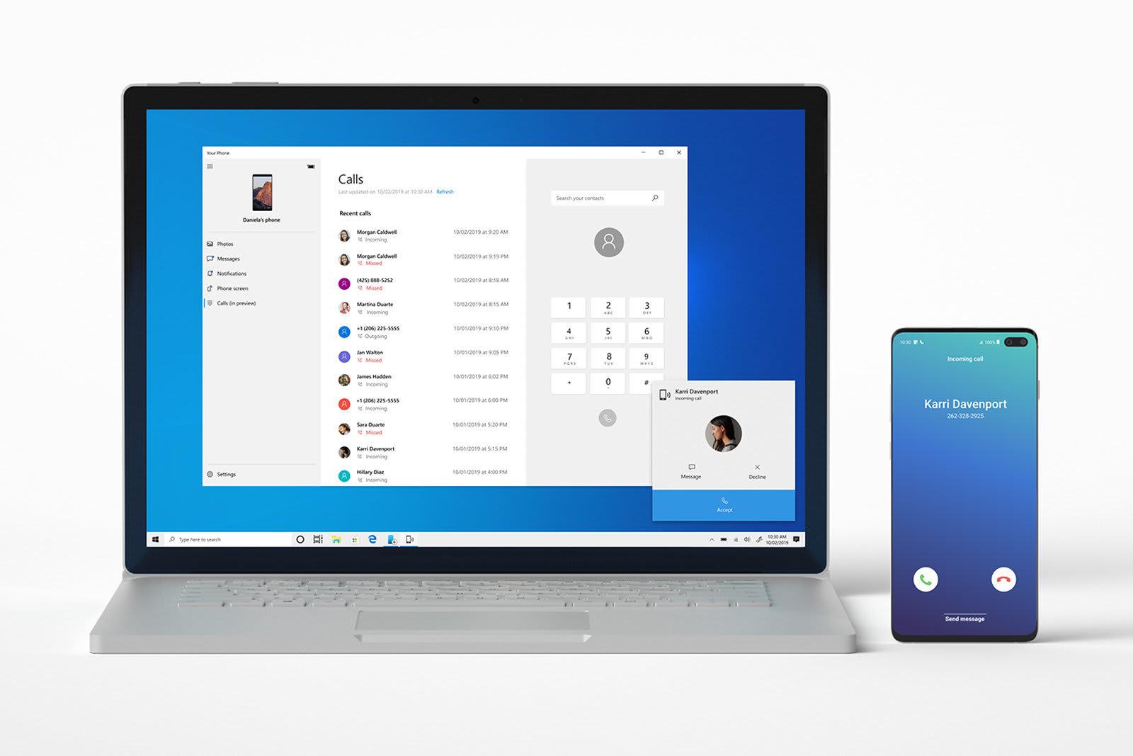 Androidへの着信をWin 10 PCから応答可能に。スマホ同期の新機能、Insider向けに公開