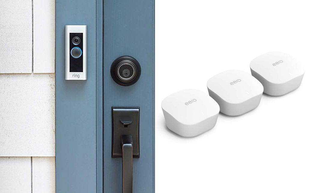Ring Video Doorbell Pro and Eero mesh WiFi system