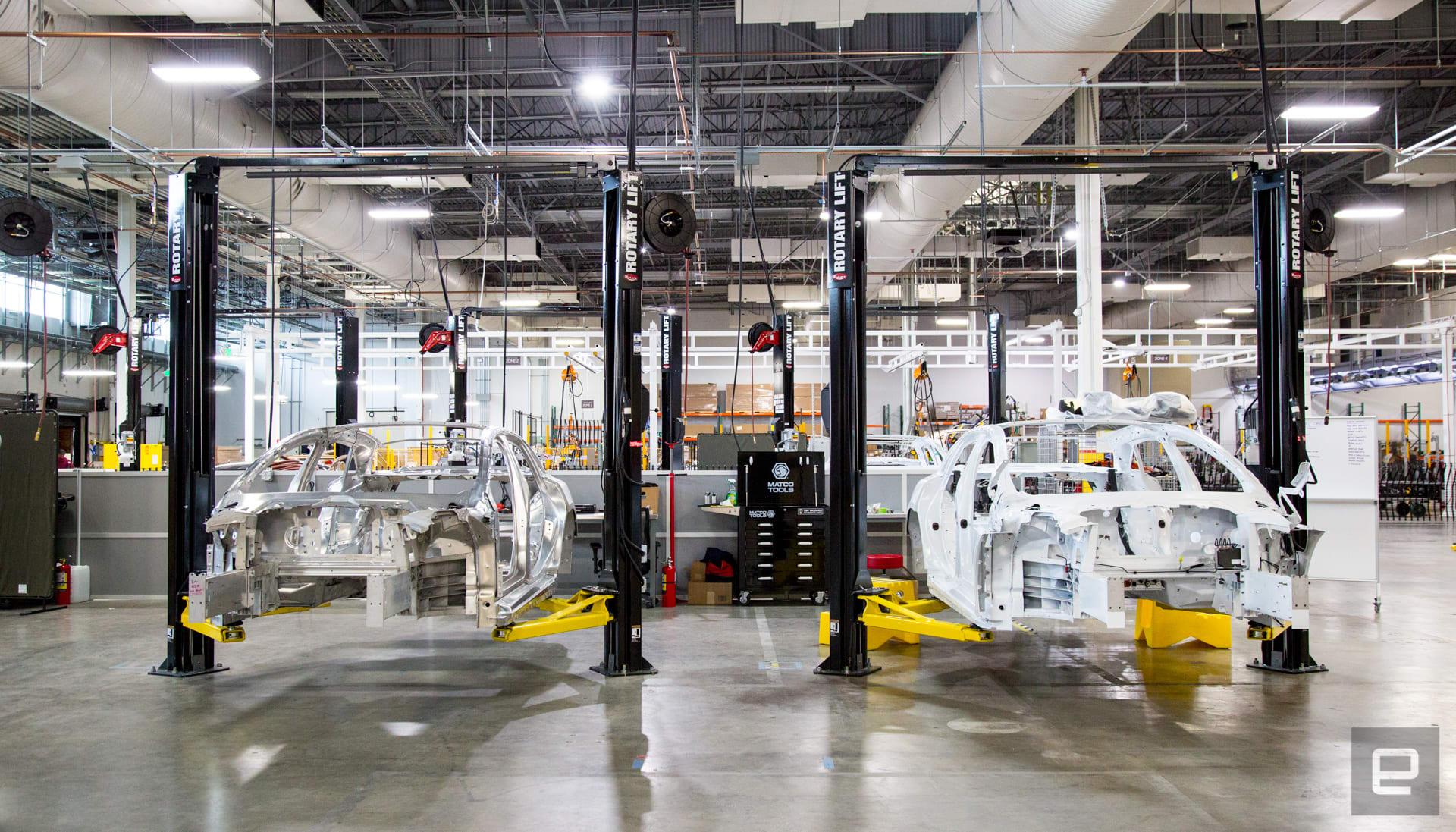 Lucid factory tour