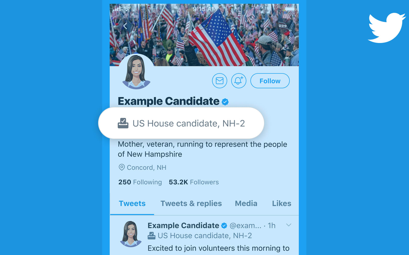 Twitter is bringing back candidate labels for the 2020 US elections