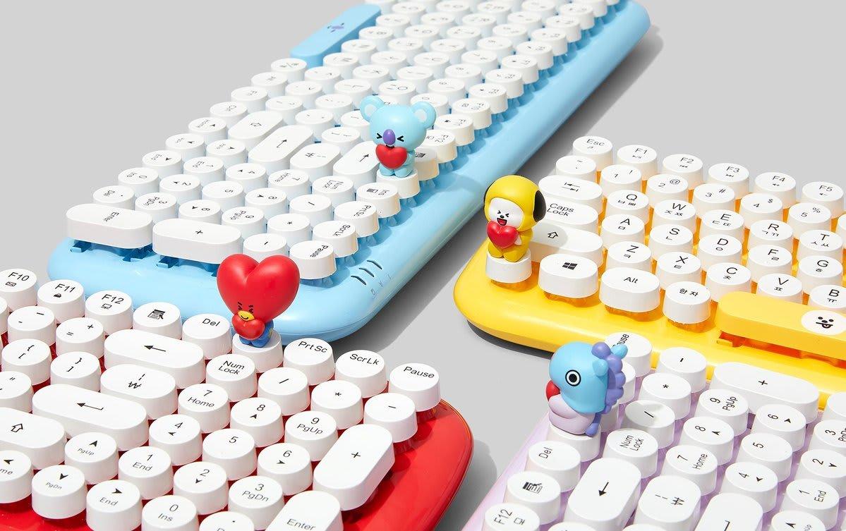BT21 Baby Wireless Retro Keyboard by Royche