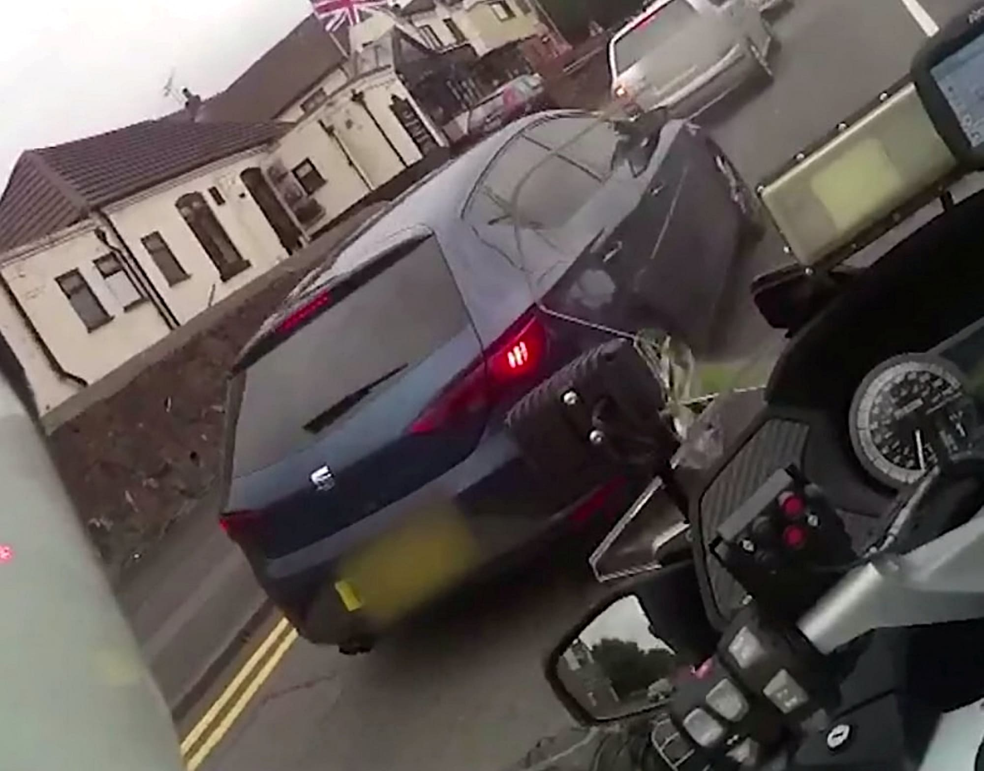 Teen yob facing jail after shocking footage captured him ramming a police motorcycle rider off his bike in stolen car