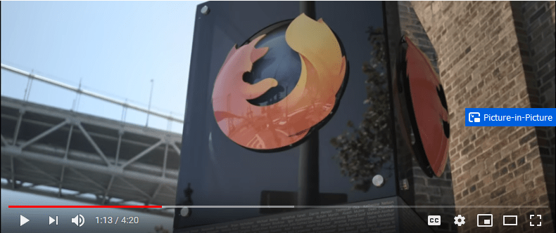 firefox picture in picture video playback