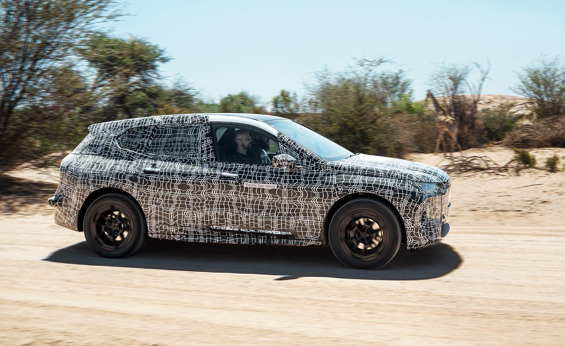 BMW iNext hot climate test EV