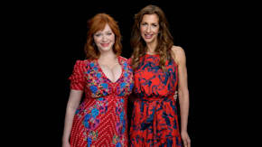 "Christina Hendricks & Alysia Reiner Chat About Their New Comedy Movie, ""Egg"""