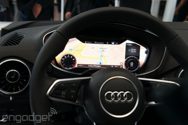 Hands-on with Audi's all-digital dash for the 2015 TT and likely