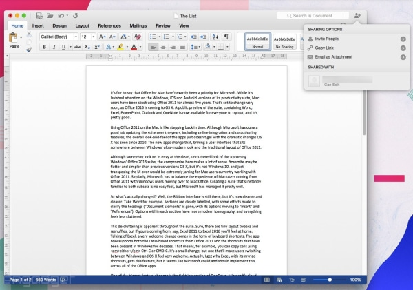 Office 2016 for Mac preview: a first look at an overdue upgrade