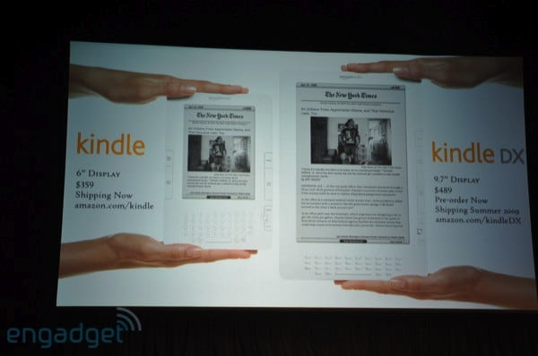 Amazon Kindle DX announced: $489, ships this summer