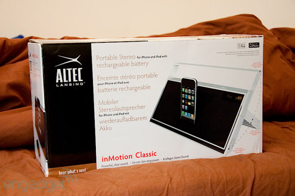Altec Lansing inMotion Classic iMT620 iPhone stereo review