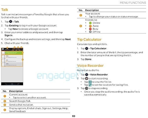 Pantech Flex user manual discovered: Easy Experience mode shown in