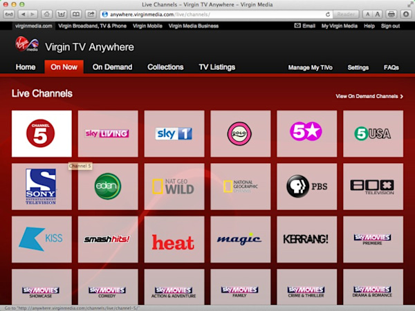 TiVo TV Anywhere app, multi-room streaming launch for Virgin Media
