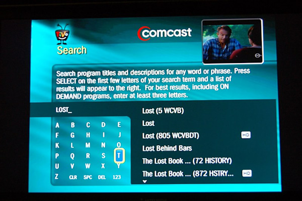 Comcast TiVo in pictures