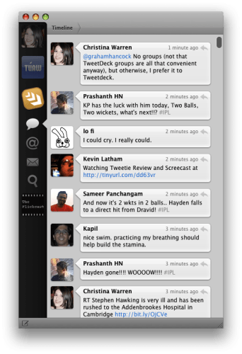 Tweetie for Mac OS X: TUAW Hands-on