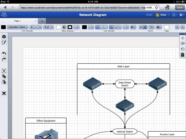 LucidChart web app brings diagramming prowess, collaboration