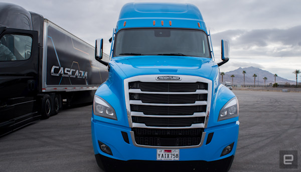 In the cab with Daimler's level 2 semi-truck