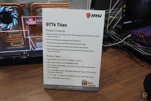 MSI GT 76 Titan hands-on: A very powerful, beefy laptop