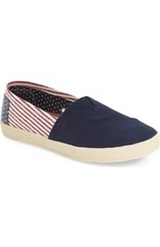 TOMS 'Avalon - American Flag' Slip-On