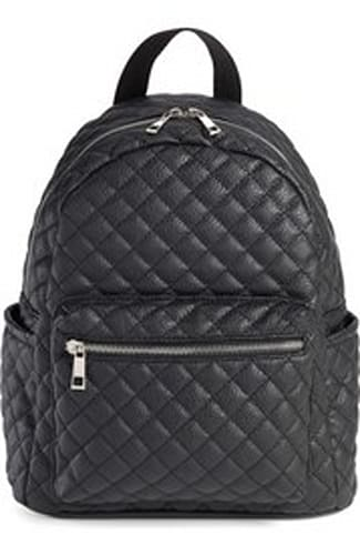 Amici Accessories Faux Leather Quilted Backpack