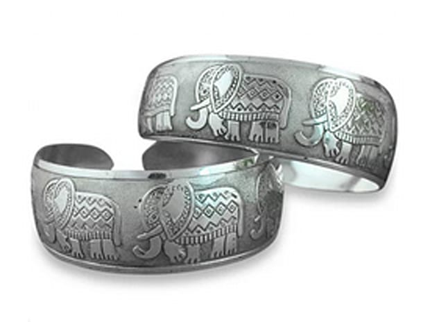 Thai Five Elephant Bangle