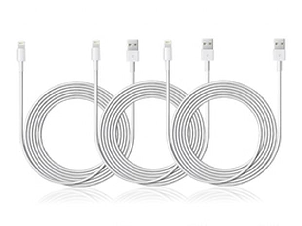 Apple 10-Ft MFi-Certified Lightning Cable: 3-Pack